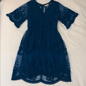 """""""Altar'd State"""" Teal Lace Dress"""